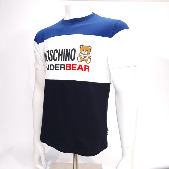 Moschino underbear t-shirt blue-white
