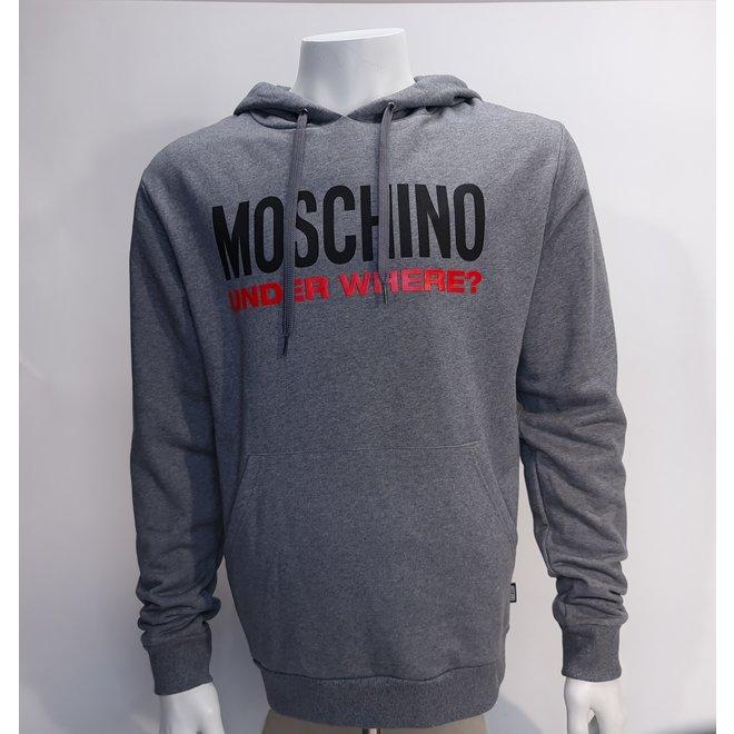 Moschino underwhere hoodie grey