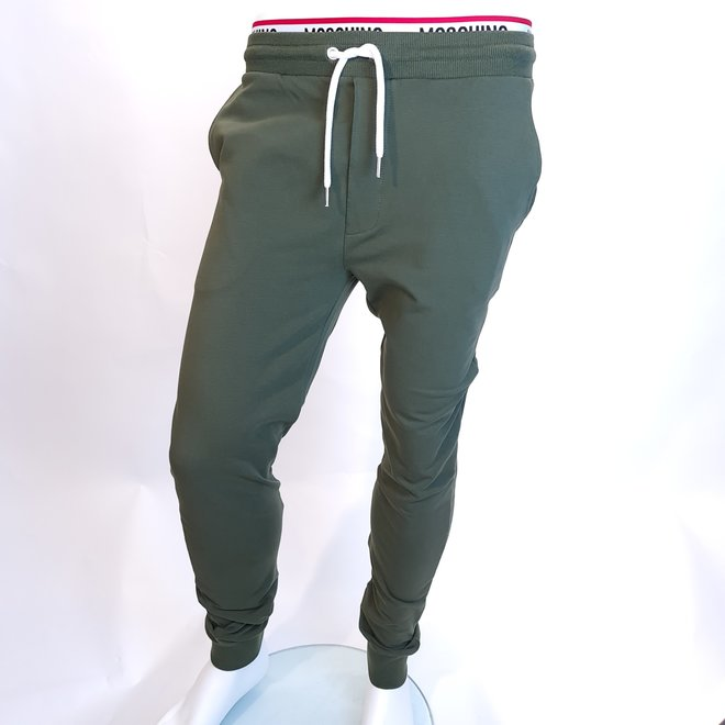Moschino logo sweatpants green