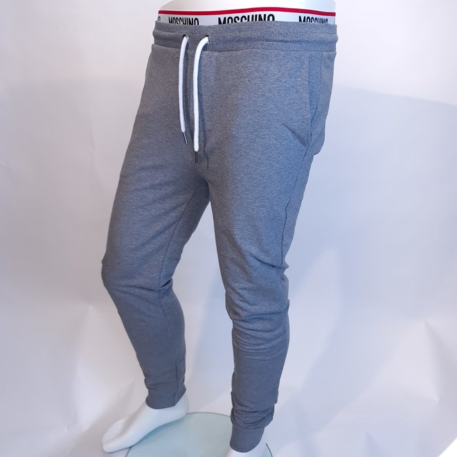 Moschino logo sweatpants grey