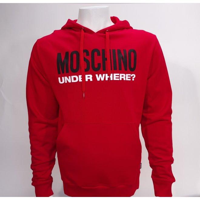 Moschino underwhere hoodie red