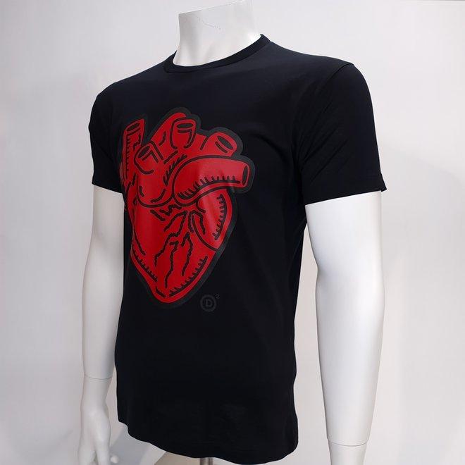 Dsquared heart t-shirt black
