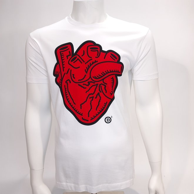 Dsquared heart t-shirt white