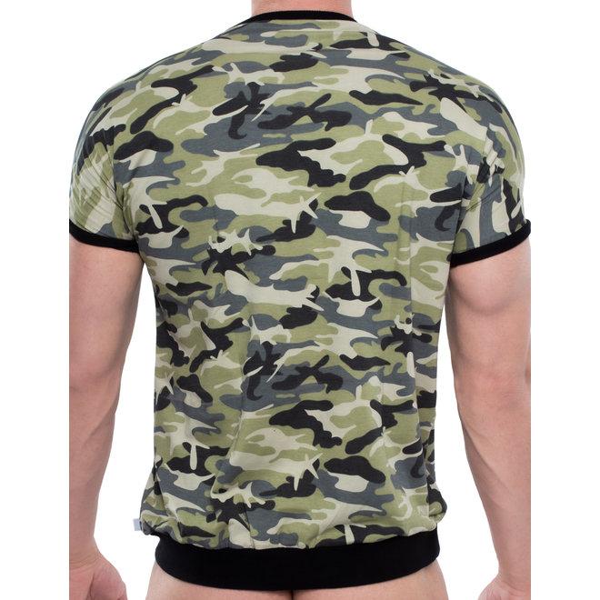 Spitzenjunge Kleeblatt t-shirt army