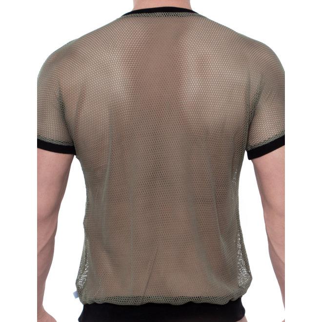 Spitzenjunge Sit t-shirt khaki