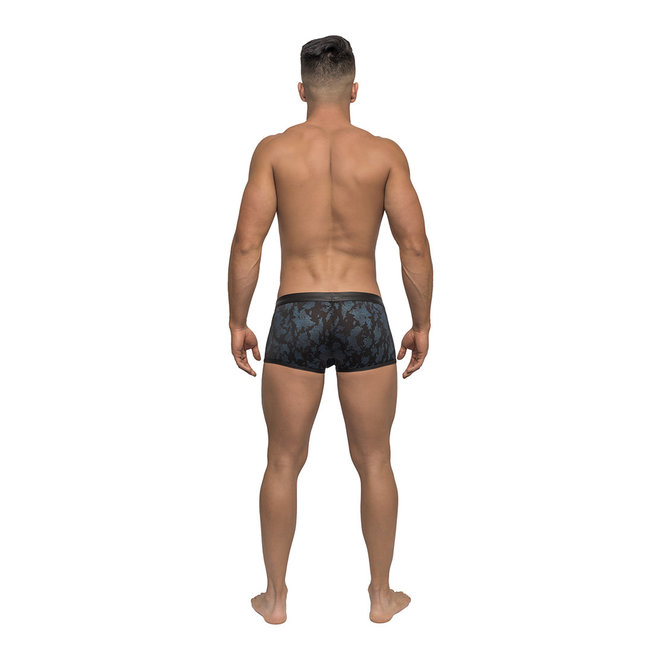 Male power strapped & bound short