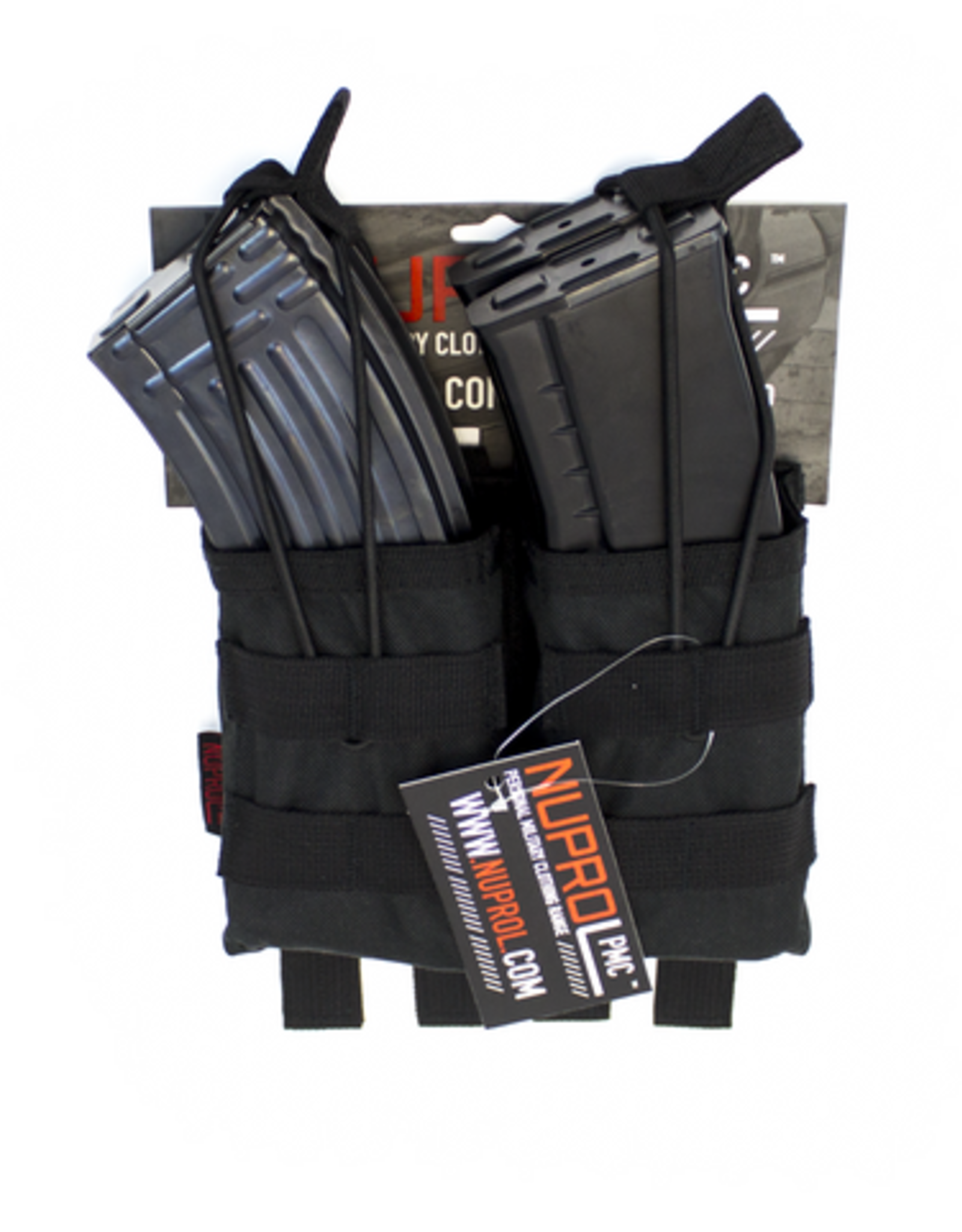 NUPROL NP PMC AK DOUBLE OPEN MAG POUCH - BLACK