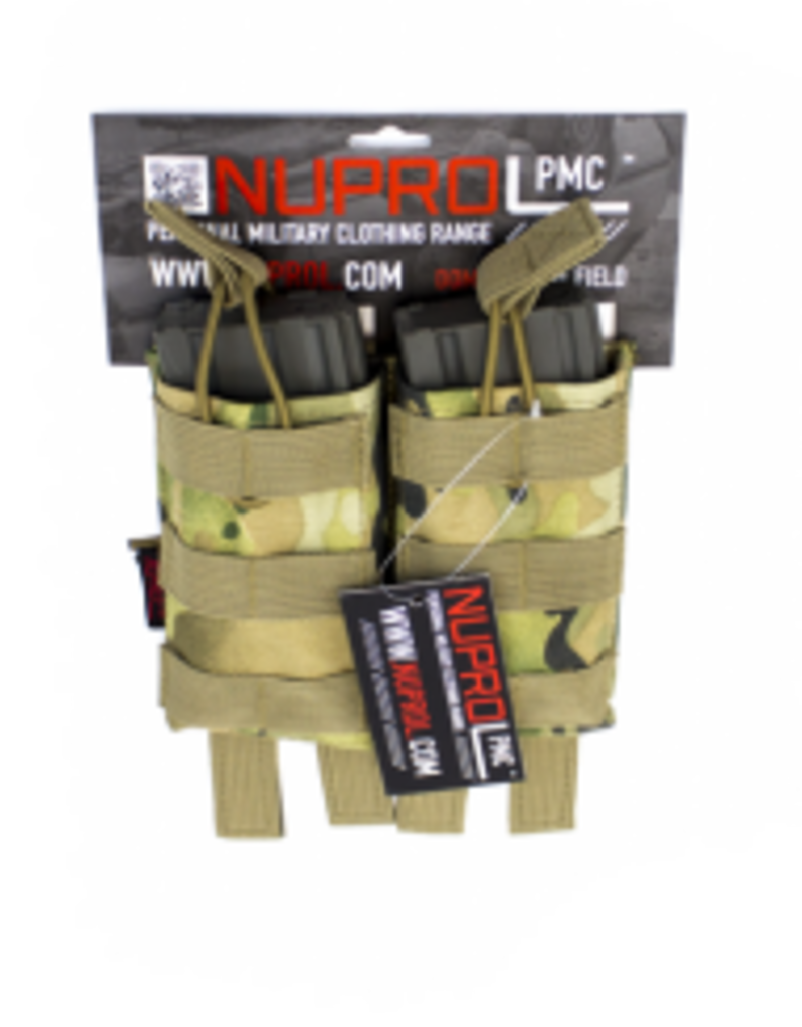 NUPROL NP PMC M4 DOUBLE OPEN MAG POUCH - NP CAMO