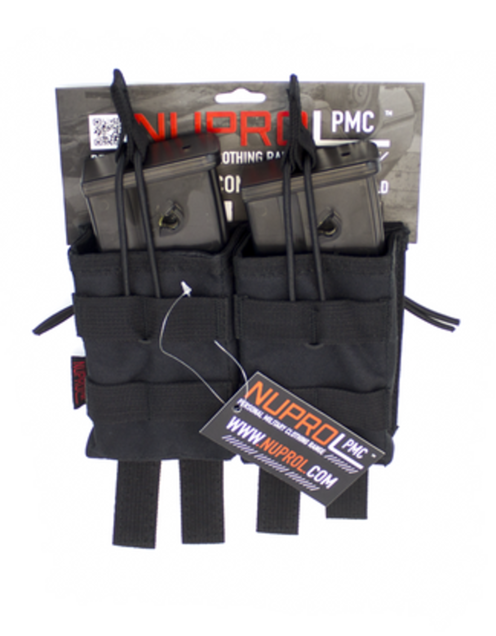 NUPROL NP PMC G36 DOUBLE OPEN MAG POUCH - BLACK