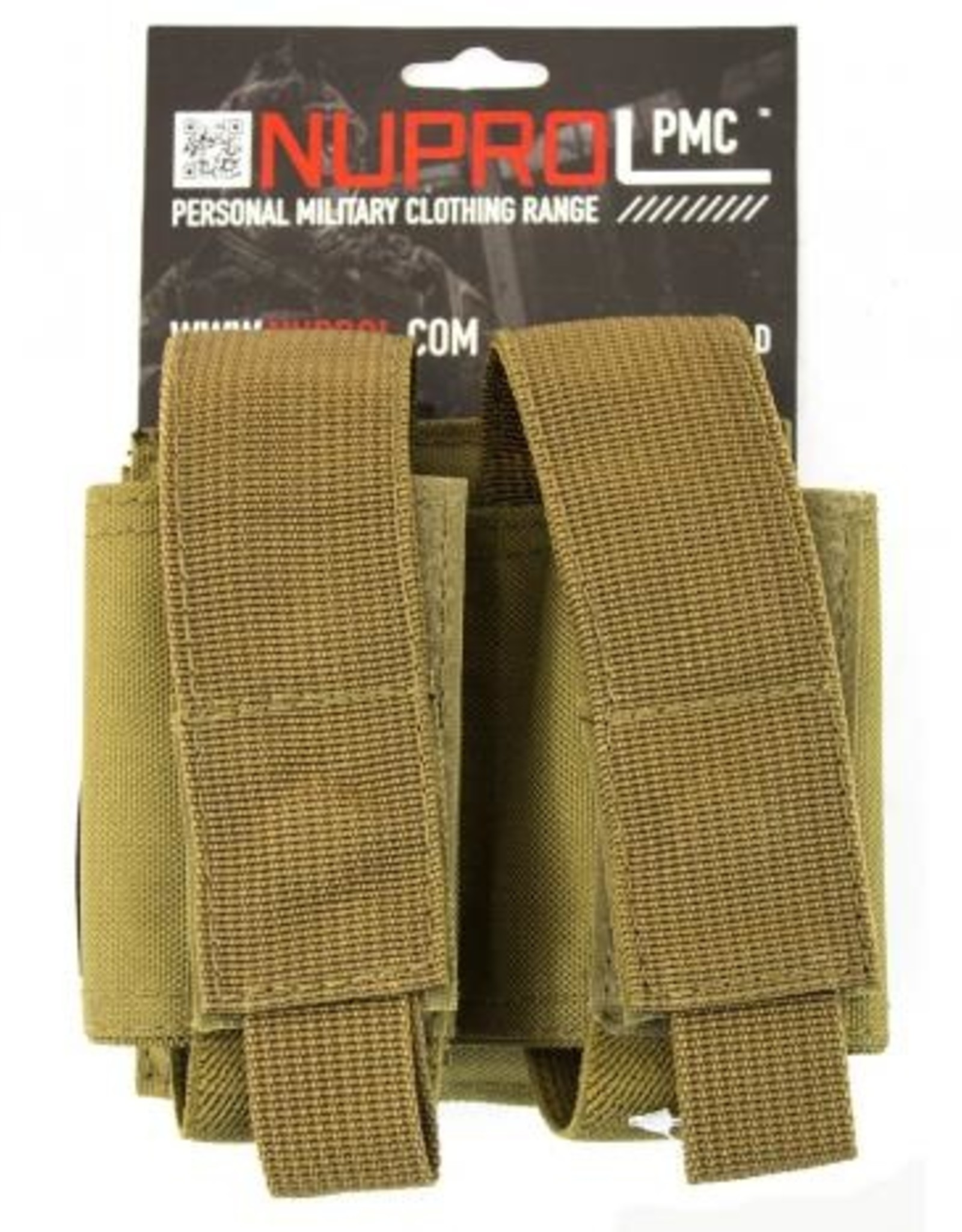 NUPROL NP PMC DOUBLE 40MM POUCH - TAN