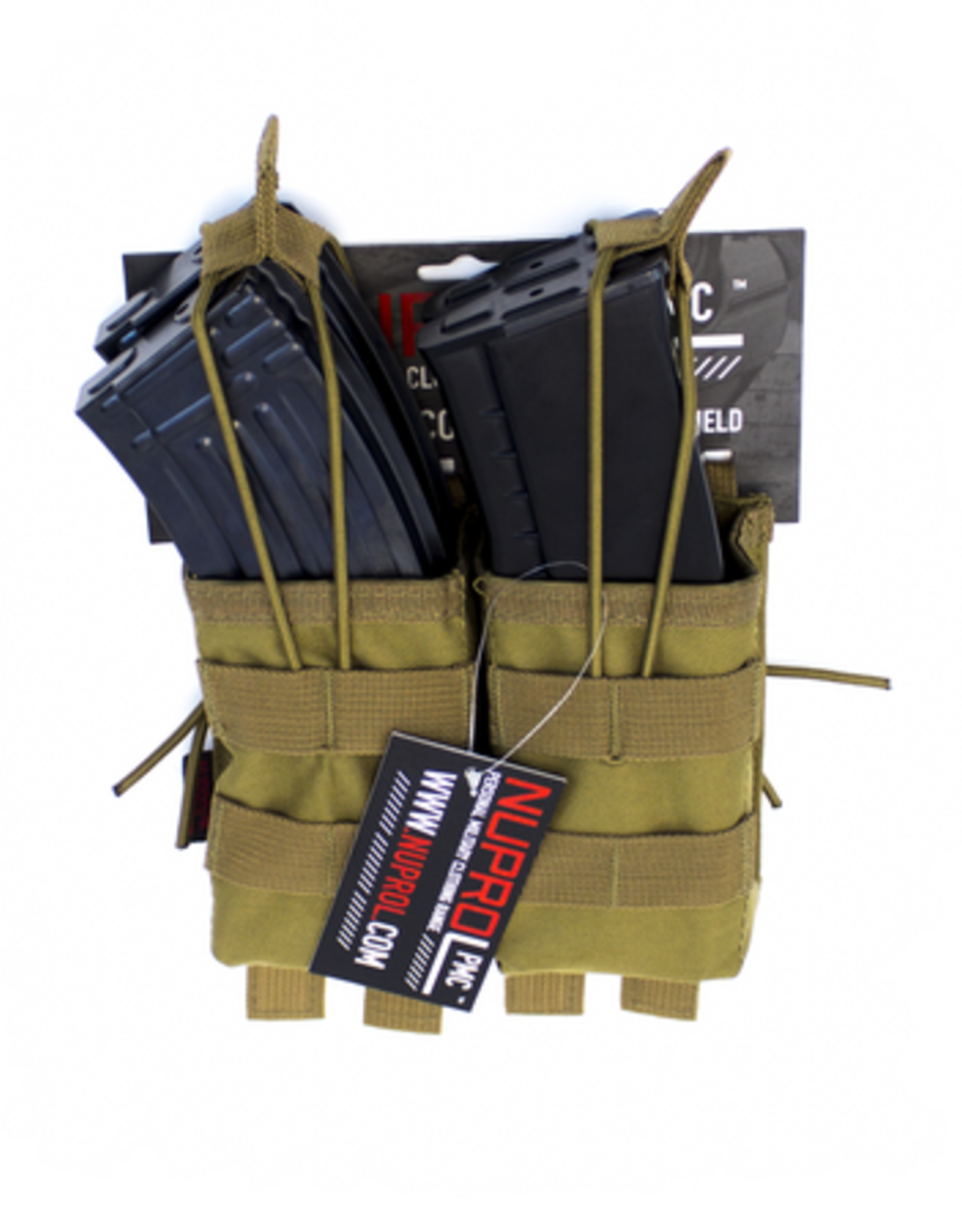 NUPROL NP PMC AK DOUBLE OPEN MAG POUCH - TAN