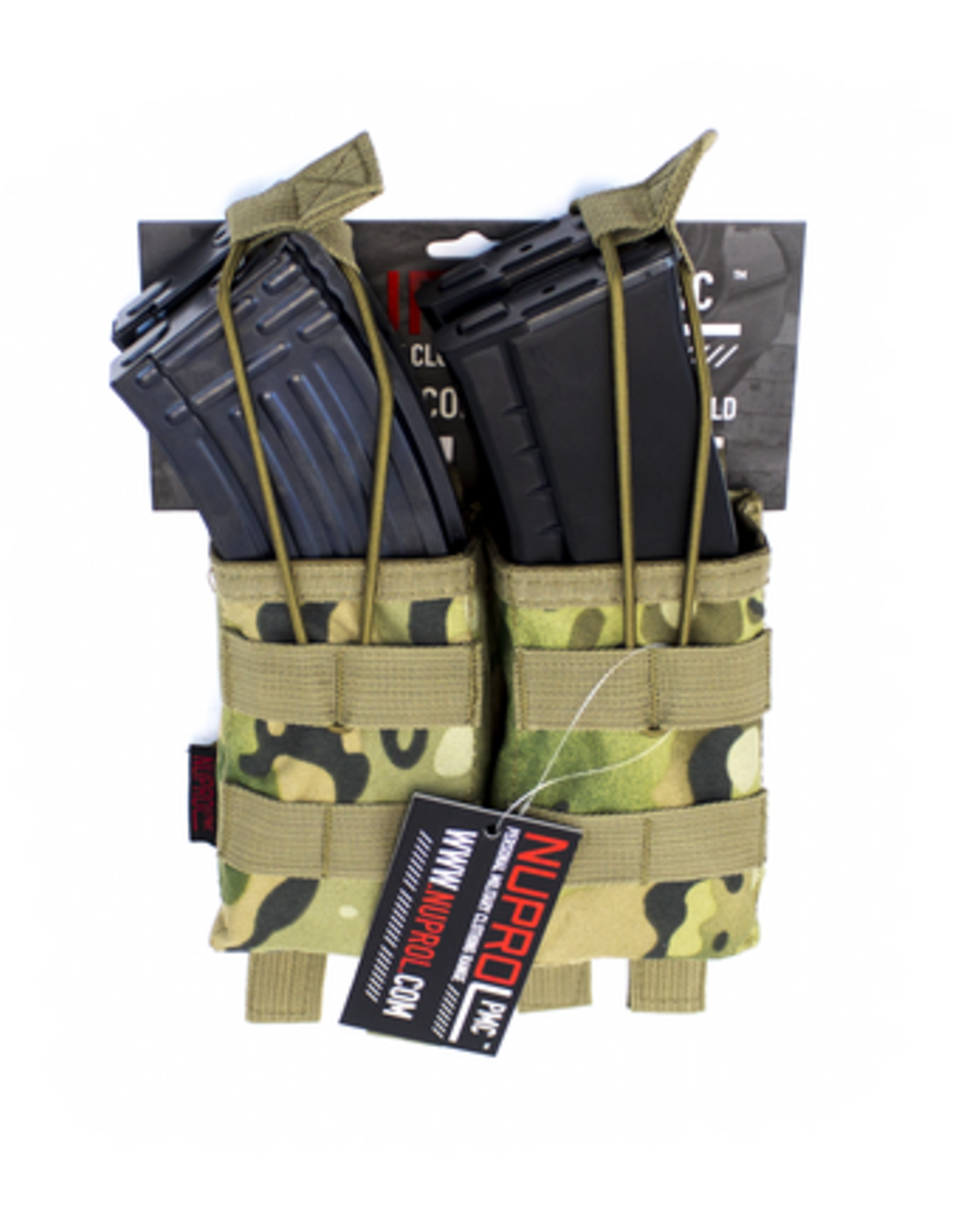 NUPROL NP PMC AK DOUBLE OPEN MAG POUCH - NP CAMO
