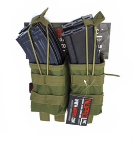NUPROL NP PMC AK DOUBLE OPEN MAG POUCH - GREEN