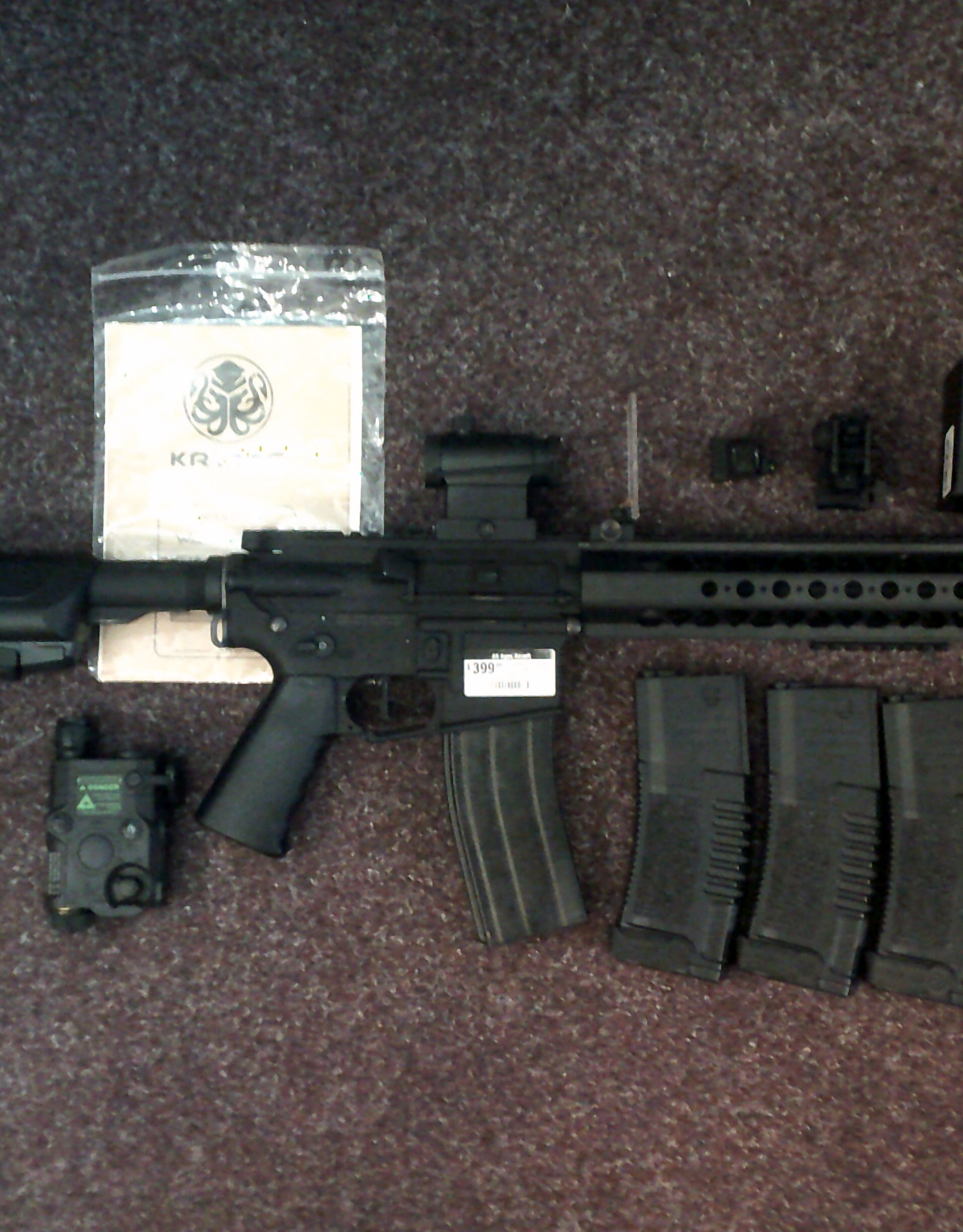 KRYTAC S/H KRYTAC LVOA WITH 7 MAGS SIGHT AND PEQ
