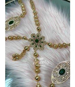 Rabat  back jewel (green)