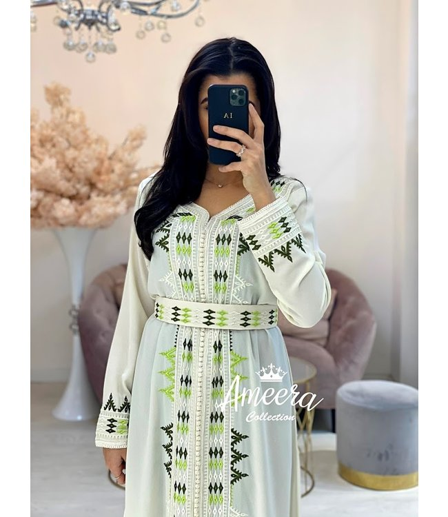 Saloua Caftan Wit