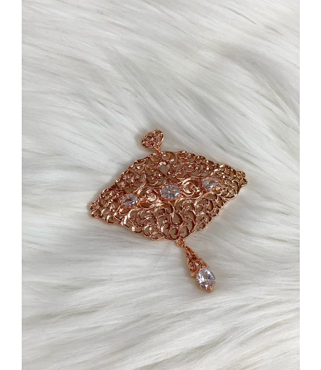 Broche  rose gold
