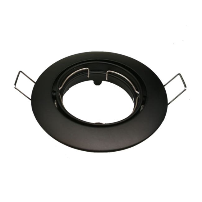 PURPL LED Spot Armatuur GU10 | Zwart | Rond | IP20 | Kantelbaar | Ø75mm (incl.gu10 fitting)