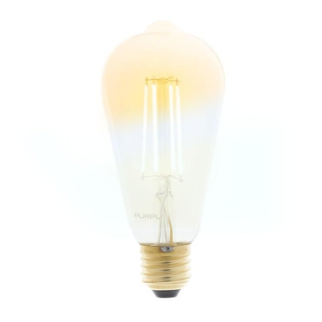 PURPL Slimme LED Filament Lamp E27 ST64 CCT 6W