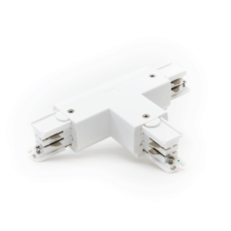 Powergear Rail Connector T   4-aderig   Wit