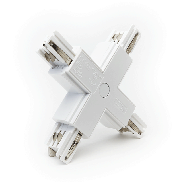 PURPL Rail Connector X | 4-aderig | Wit | 3-fase