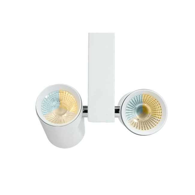 PURPL Dubbele LED Spot voor 3-fase Rail Verlichting   2x20W    4-aderig   Dual Wit (CCT)   Wit