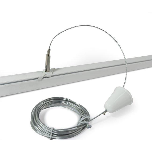 Powergear Ophangset voor LED railsysteem | Wit | 3M