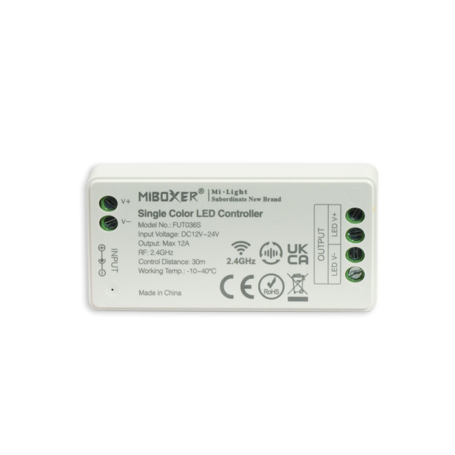 MILIGHT LED strip controller | 4-zone | Wit