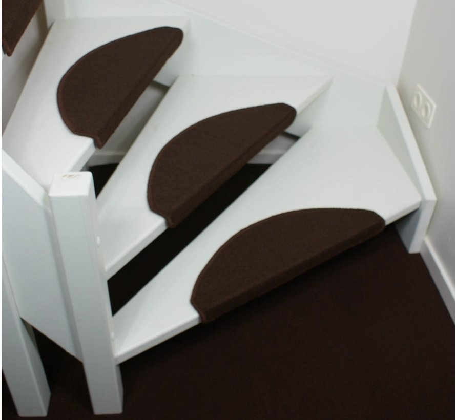 Elite Dunkelbraune Stufenmatten