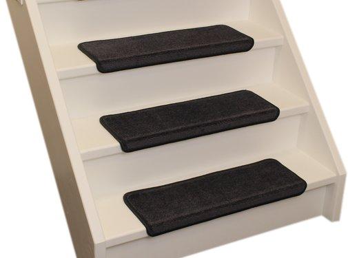 Elite Stufenmatten Elite Soft Anthrazit Gerade Stufenmatten