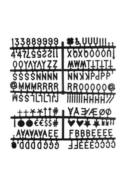 Letter Set Zwart