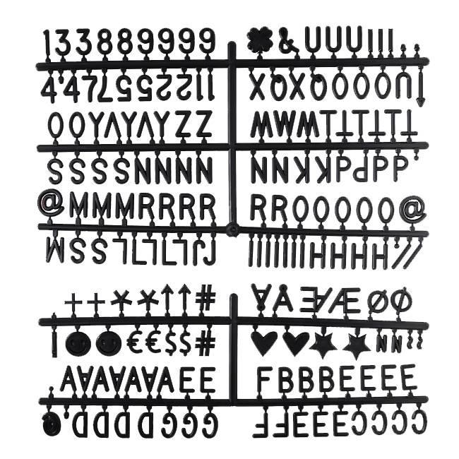 Letter Set Zwart-1