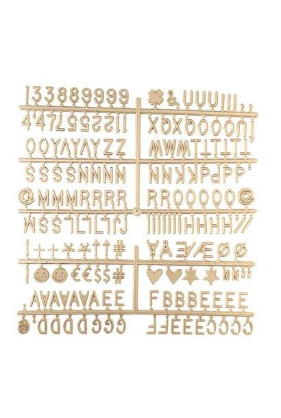 Letter Set Gold