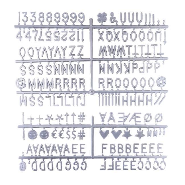 Letter Set Zilver-1