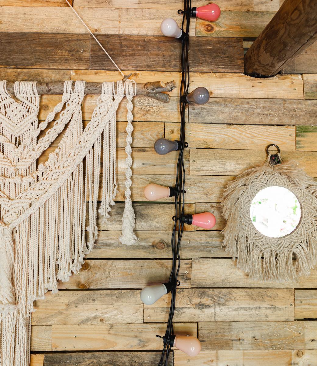 LEDR buiten feestverlichting roze en grijs - Outdoor Patio Lichtslinger Dirty Rose - 10 LED lampen - Edison Bulbs-2