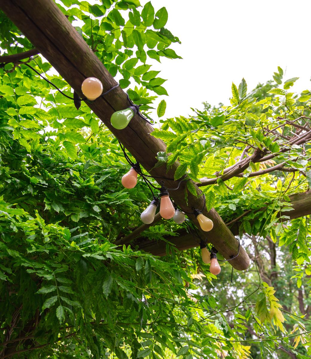 LEDR buiten feestverlichting groen en roze - Outdoor Patio Lichtslinger Paradise - 10 LED lampen - Edison Bulbs-2