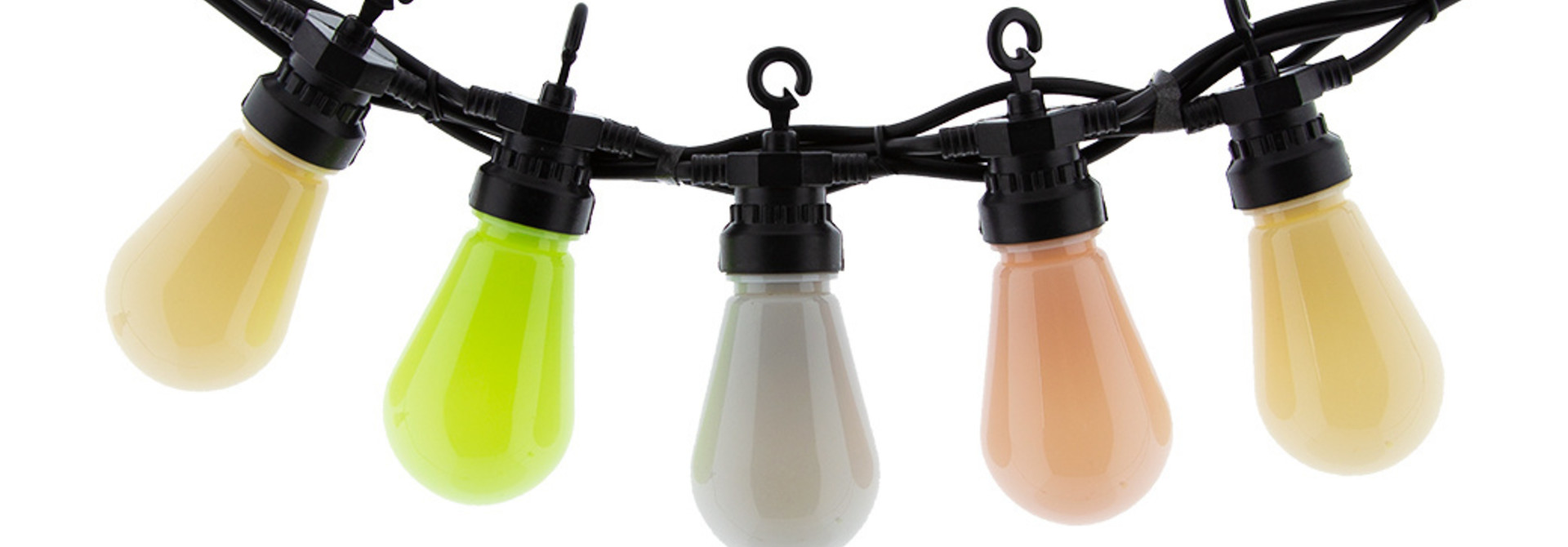 LEDR buiten feestverlichting groen en roze - Outdoor Patio Lichtslinger Paradise - 10 LED lampen - Edison Bulbs