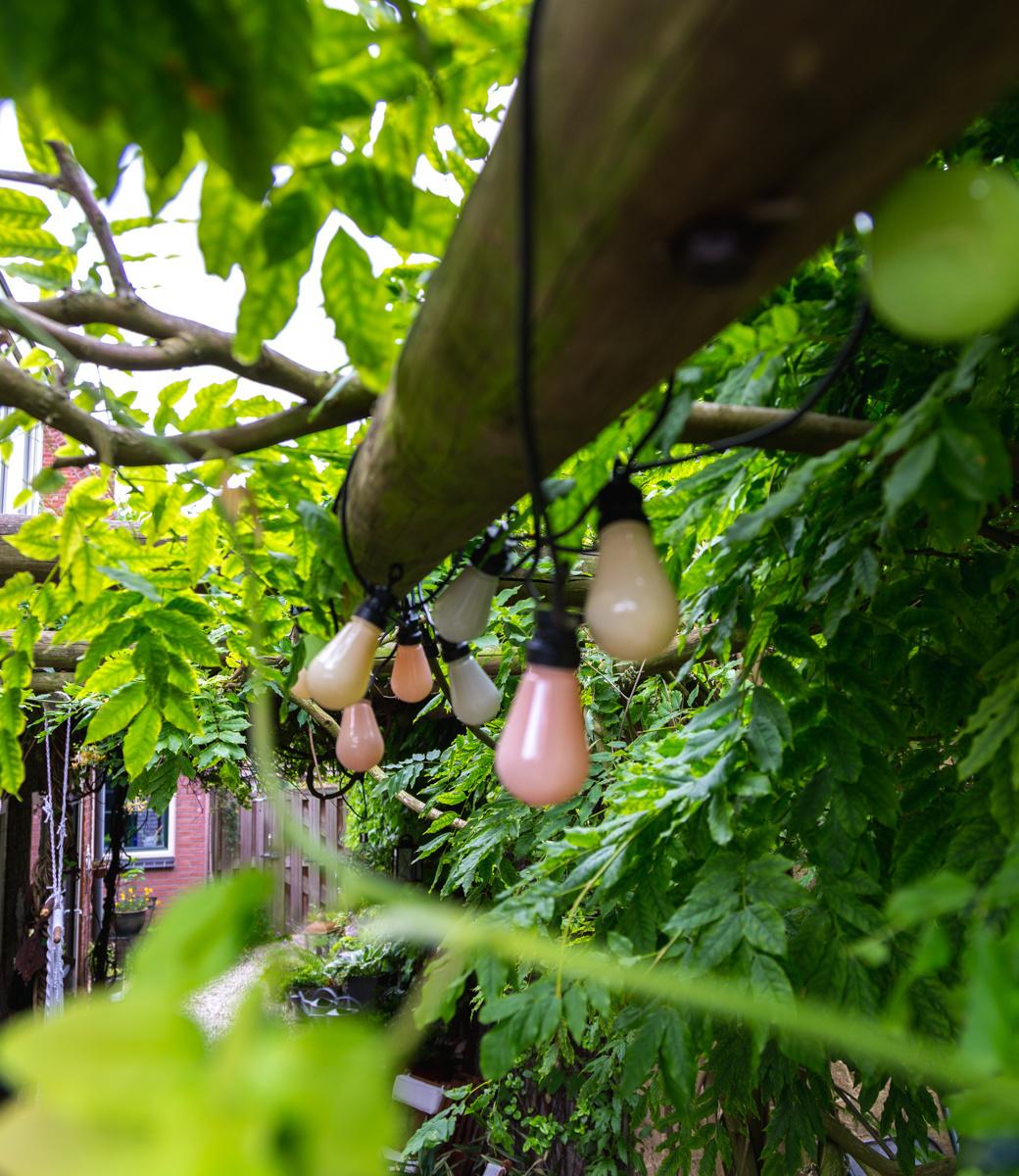 LEDR buiten feestverlichting groen en roze - Outdoor Patio Lichtslinger Paradise - 10 LED lampen - Edison Bulbs-4