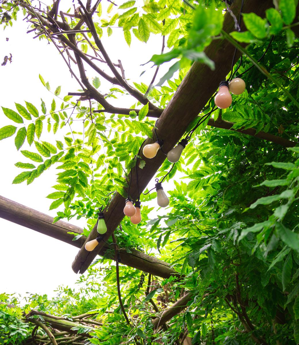 LEDR buiten feestverlichting groen en roze - Outdoor Patio Lichtslinger Paradise - 10 LED lampen - Edison Bulbs-5