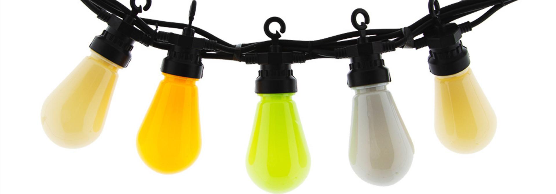 Regular Edison Bulbs Patio Lights  - Summer Night