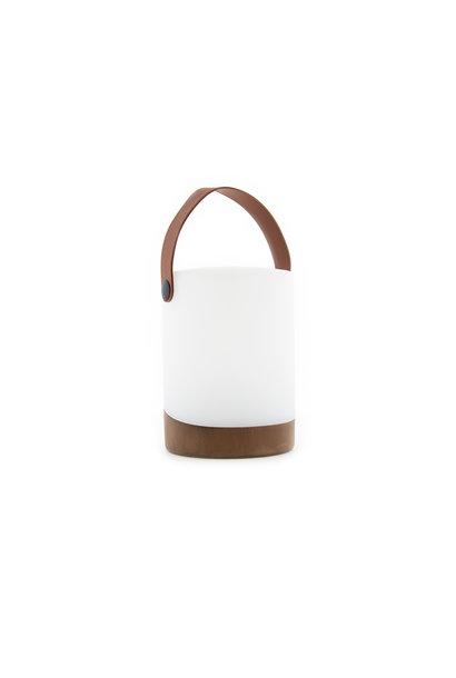 Tischlampe im Freien Mabe + Lautsprecher Walnuss