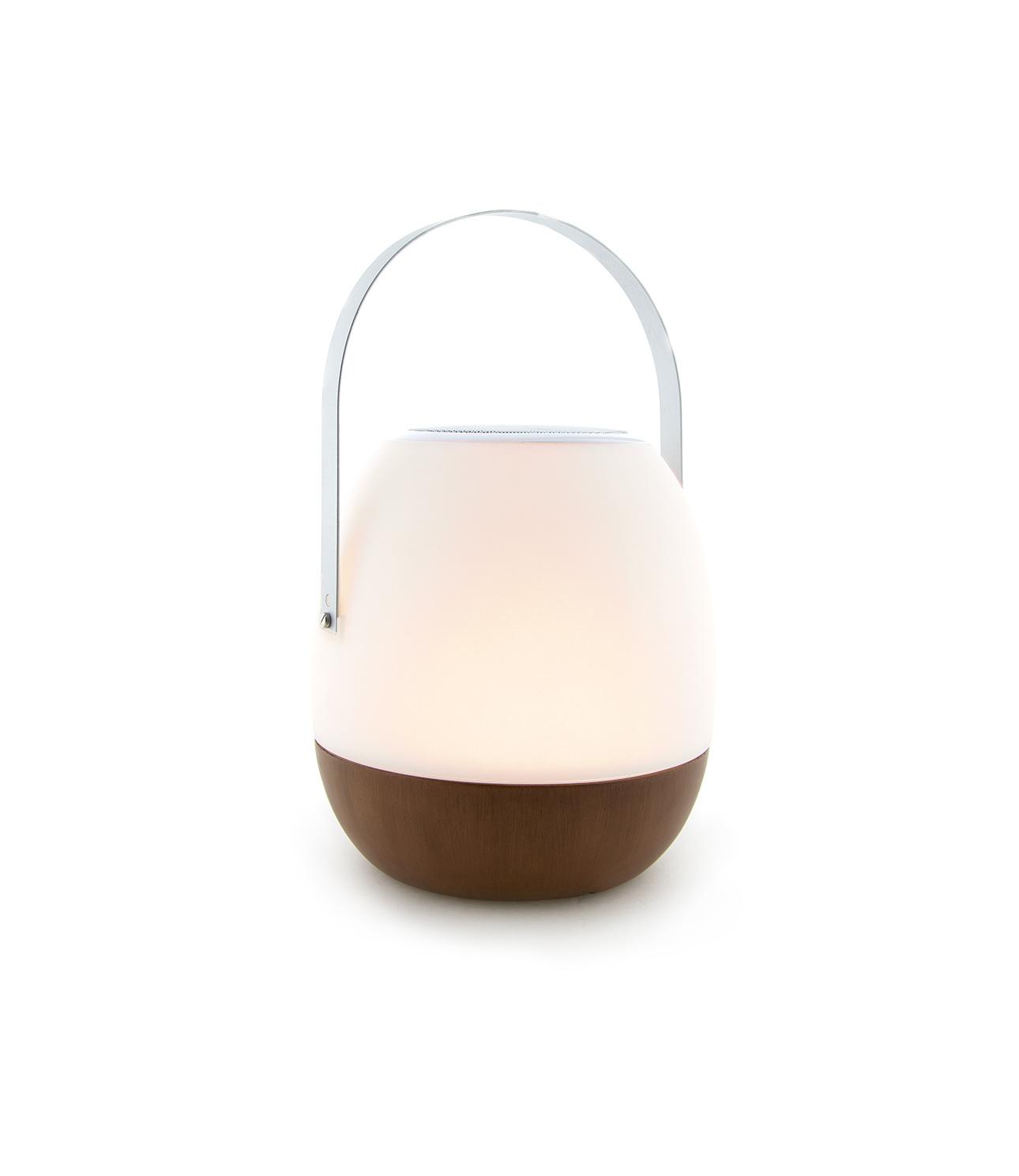 Tischlampe im Freien Pine + Lautsprecher Walnuss-7