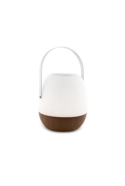 Tischlampe im Freien Pine + Lautsprecher Walnuss