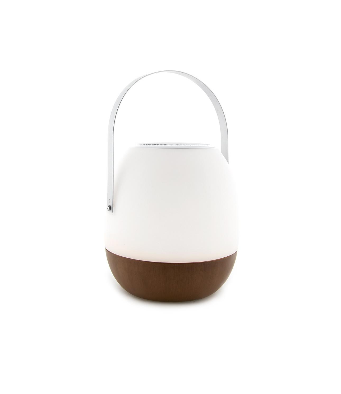 Tischlampe im Freien Pine + Lautsprecher Walnuss-1