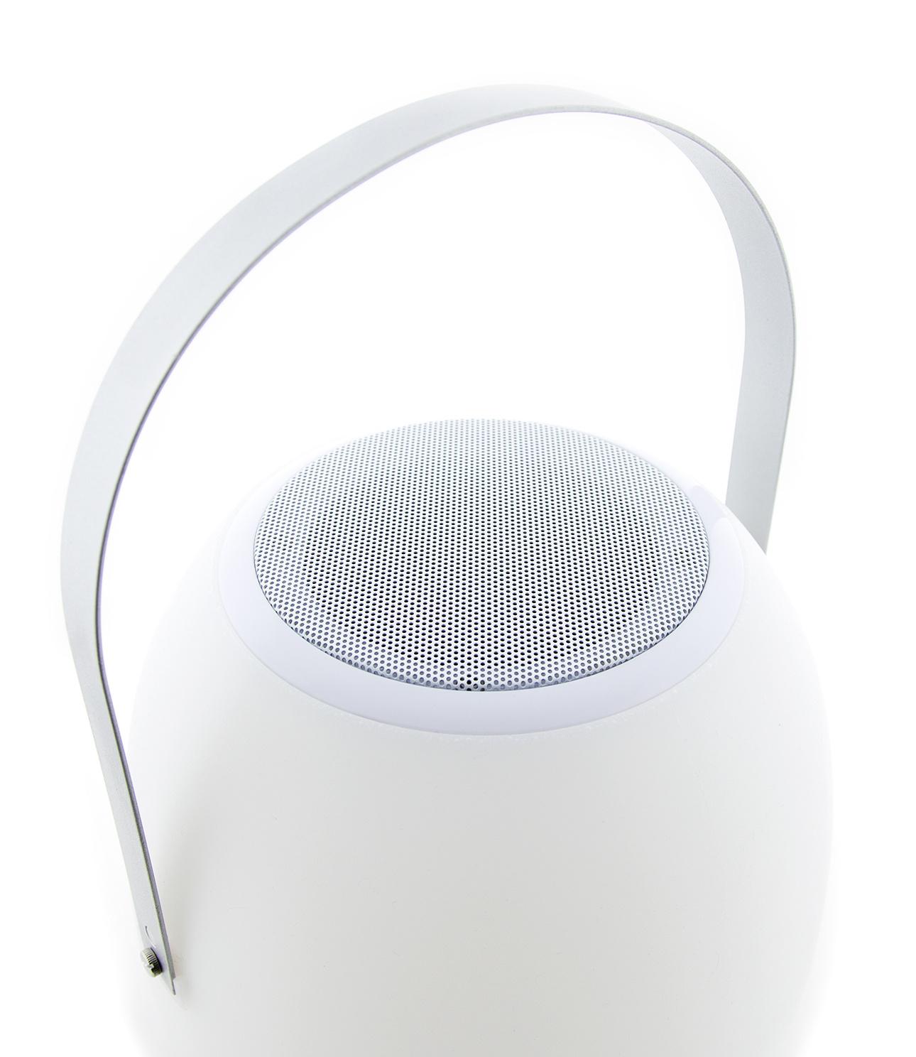 Tischlampe im Freien Pine + Lautsprecher Walnuss-8