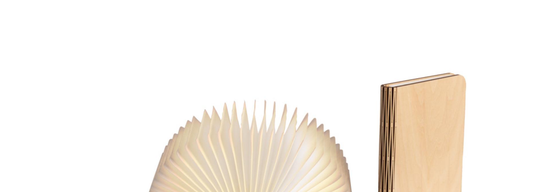 Buchlampe Ahornfarben M