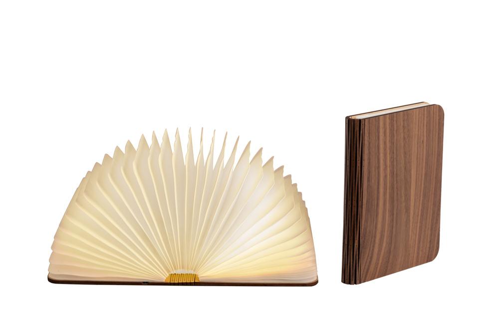 Boek Lamp Walnoot Bruin L-1