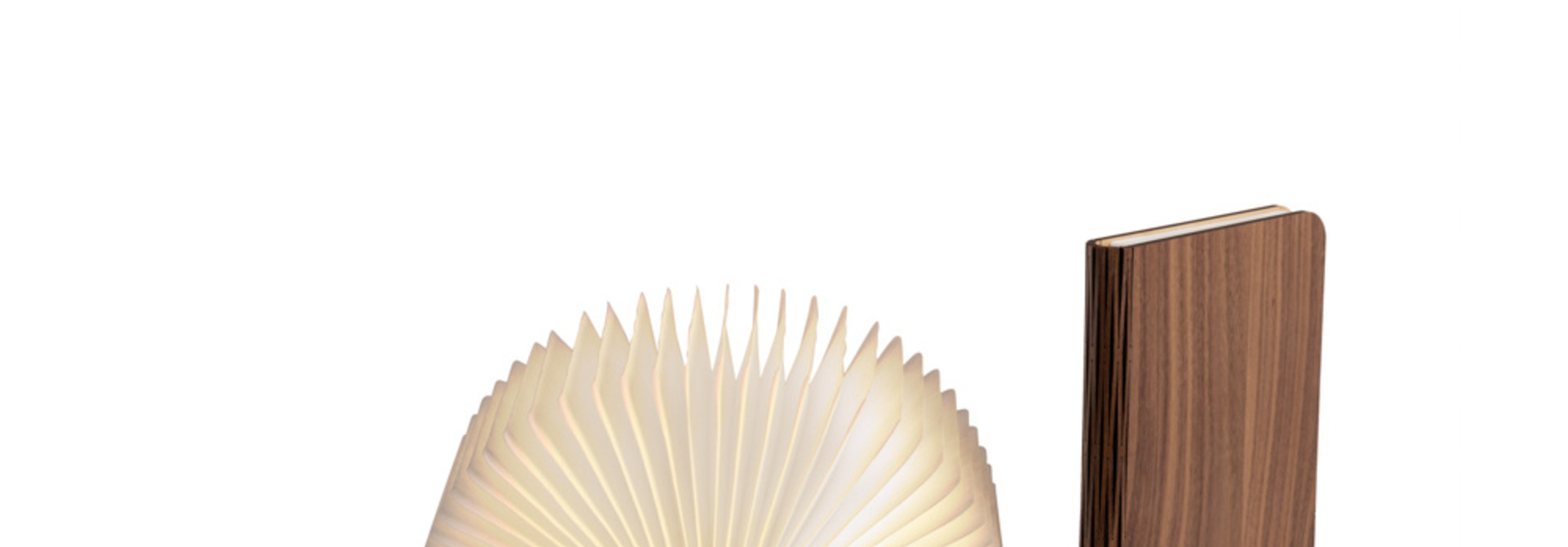 Boek Lamp Walnoot Bruin M