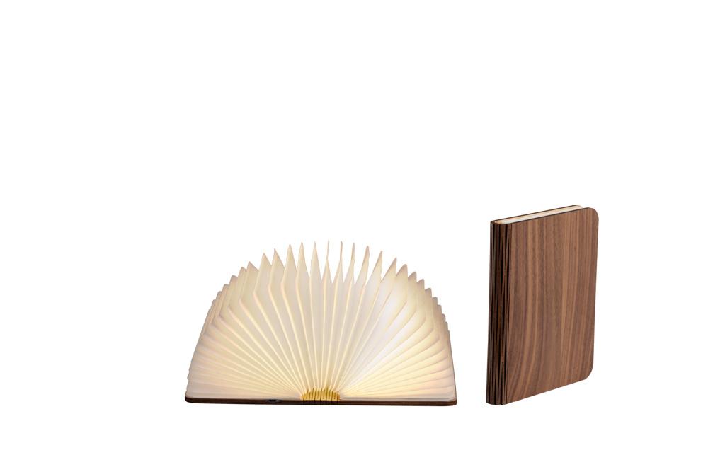 Boek Lamp Walnoot Bruin M-1