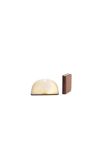 Buchlampe Walnussbraun S